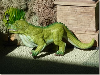 Iguanodon figure inspired by Crystal Palace - left side