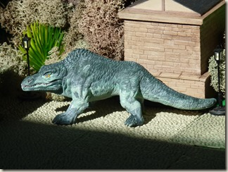 Megalosaurus figure inspired by Crystal Palace - left side