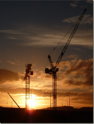 Cranes at Sunrise (Approximation of the BBC crop)