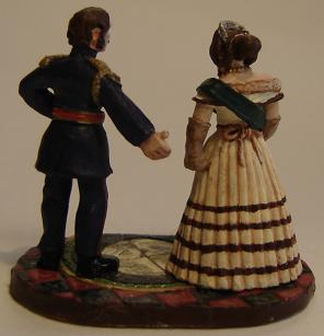 Painted miniatures of Queen Victoria and Prince Albert - back view