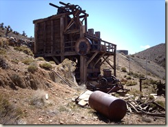 Steam-powered ten stamp mill, Lost Horse Mine