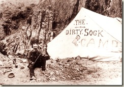 Dirty Sock Camp - named after an impromptu method of filtering gold from mercury.