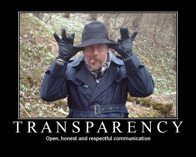 Transparency: Open, honest and respectful communication