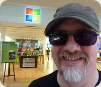Outside the Microsoft Store, Mission Viejo, CA
