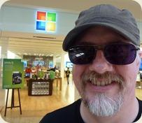 Outside the Microsoft Store, Mission Viejo, CA