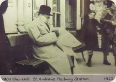 Winston Churchill, St Andrews Railway Station, 1940