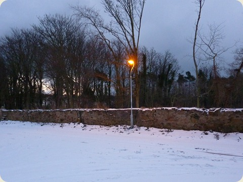 Snow in Kingsbarns