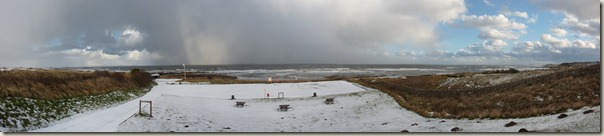 Kingsbarns Beach in the Snow