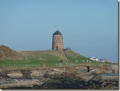 Looking towards the windmill from St. Monans - Pittenweem in the background