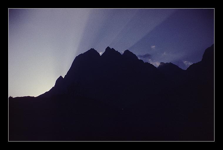 Вечер над вершиной Гиреч
