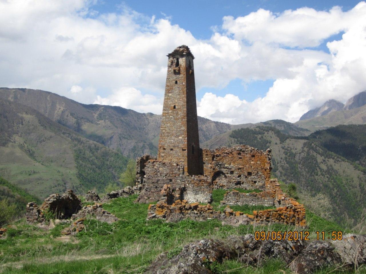 Горная Ингушетия развалины Гаппи