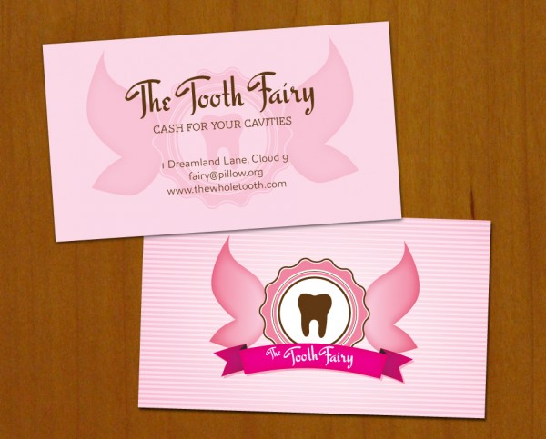Tooth Fairy business cards