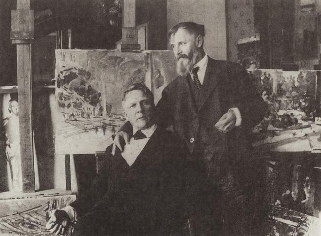 Коровин и Шаляпин. 1930 год