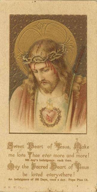 Sacred Heart holy card