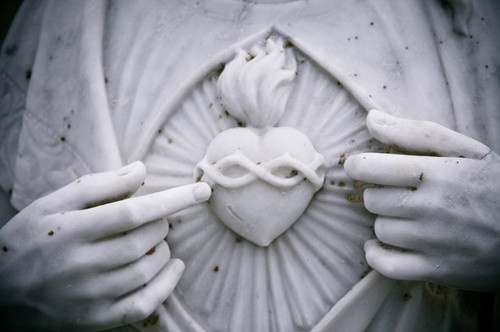 Sacred heart sculpture