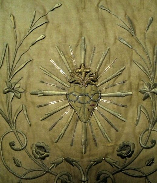 French Sacred Heart banner 19th century
