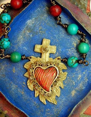CORAZON CRUZ necklace ©2011 Lorena Angulo