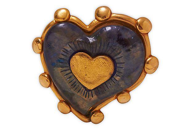 Christian Lacroix Heart Brooch