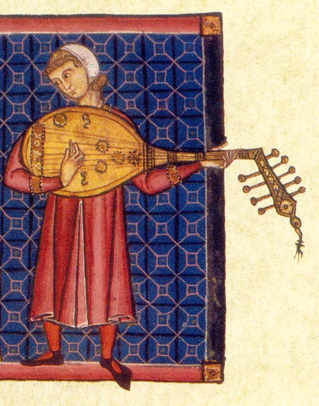 Illustration from a Cantigas de Santa Maria manuscript.