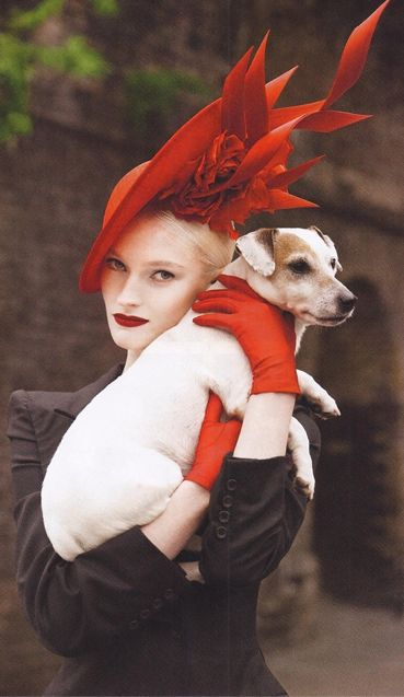 Little Archie and Helena wearing a Philip Treacy hat on Harper's Bazaar Thailand January 2014. Photographed by Garda Tang.