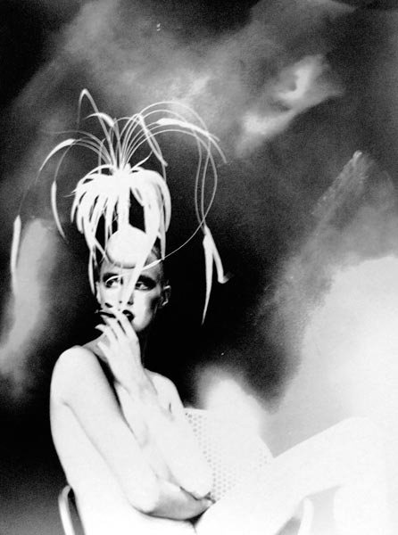 Philip Treacy hat, Lillian Bassman photo.