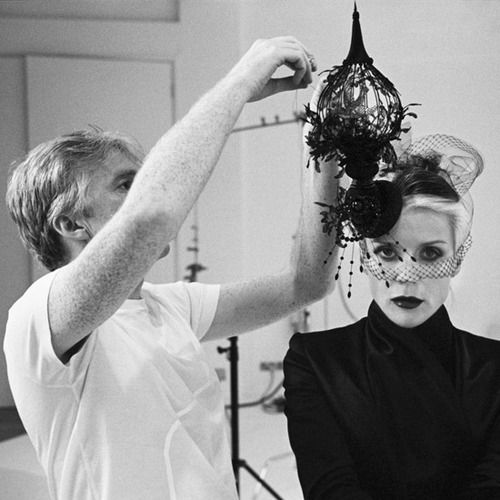 Philip Treacy and Daphne Guinness, Italian Vogue Shoot, 2008.