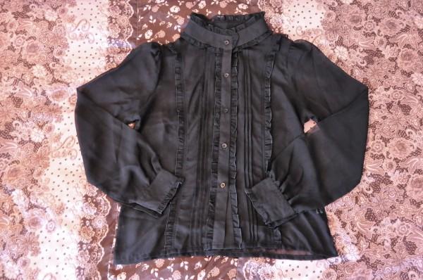 Off-Brand Sheer Black Blouse