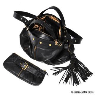 007 handbag (top) and Mini-Me clutch