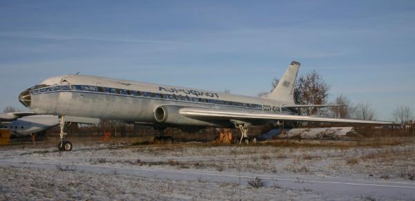 Ту-104Е СССР-42441 учебный аэродром СГАУ