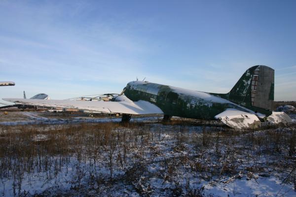 Ли-2 учебный аэродром сгау