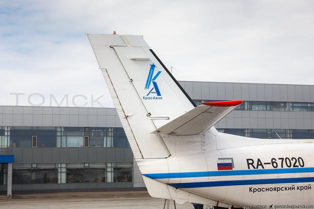 КрасАвиа  Барнаул - Томск на L-410