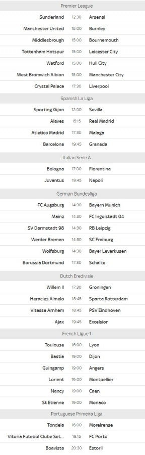 live sat football fixtures