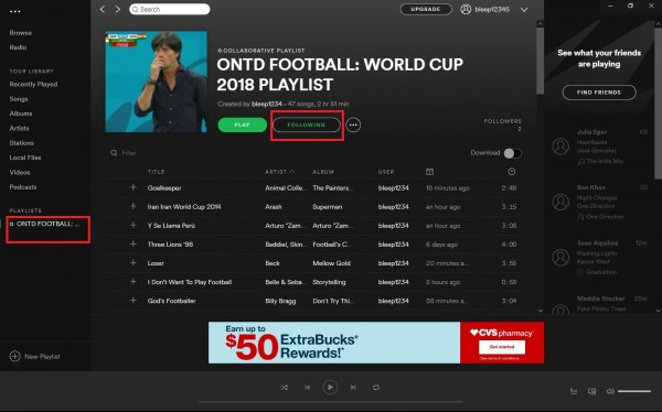 WORLD CUP 2018 COLLABORATIVE PLAYLIST ON SPOTIFY