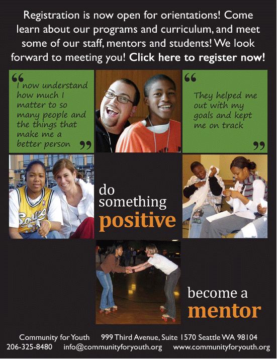 Community for Youth Mentoring Flyer