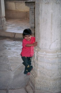 Young boy in Jain temple, Ranakpur