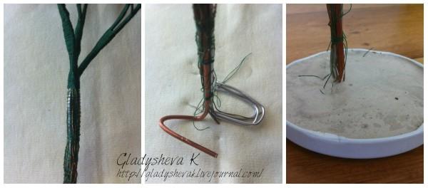 Мастер-класс «Гипсовый ствол бисерного дерева»: gladyshevak