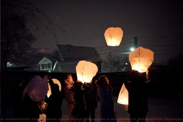 Новый год 2012. Волшебные фонарики