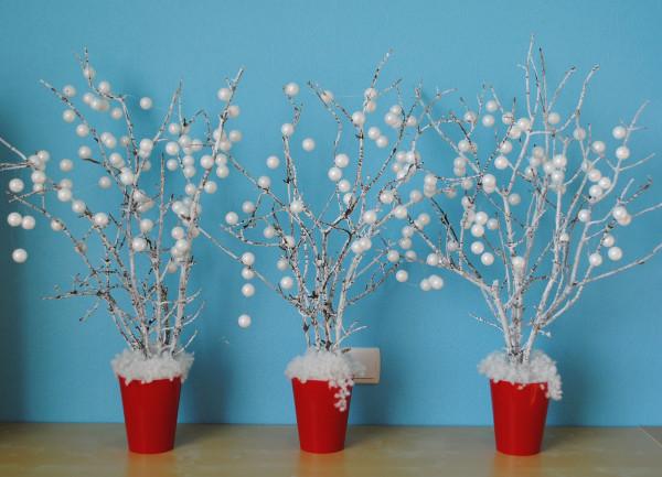ветки в снегу