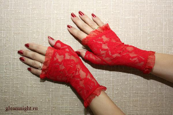 Кружевные Перчатки Красные В Красноярске