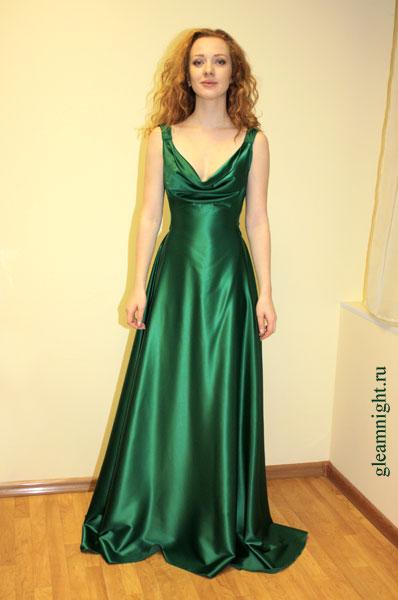 Красивые Зелёные Атласовые Платья