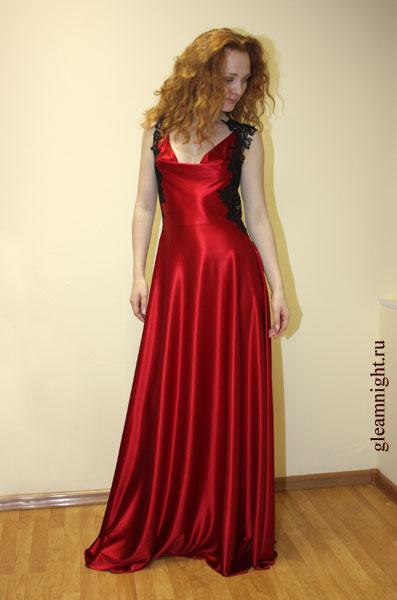Выкройка на атласное платье