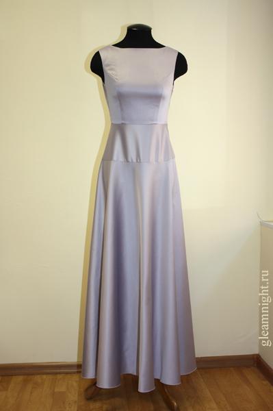 Как сшить длинное платье из атласа
