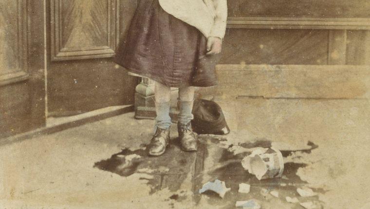 «Девушка и разбитая банка», фрагмент. Неизвестный автор, 1852-1863