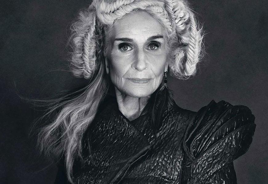Старейшая профессиональная фотомодель Дафна Селф