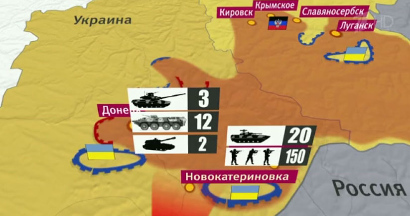 очередной обстрел Донецка