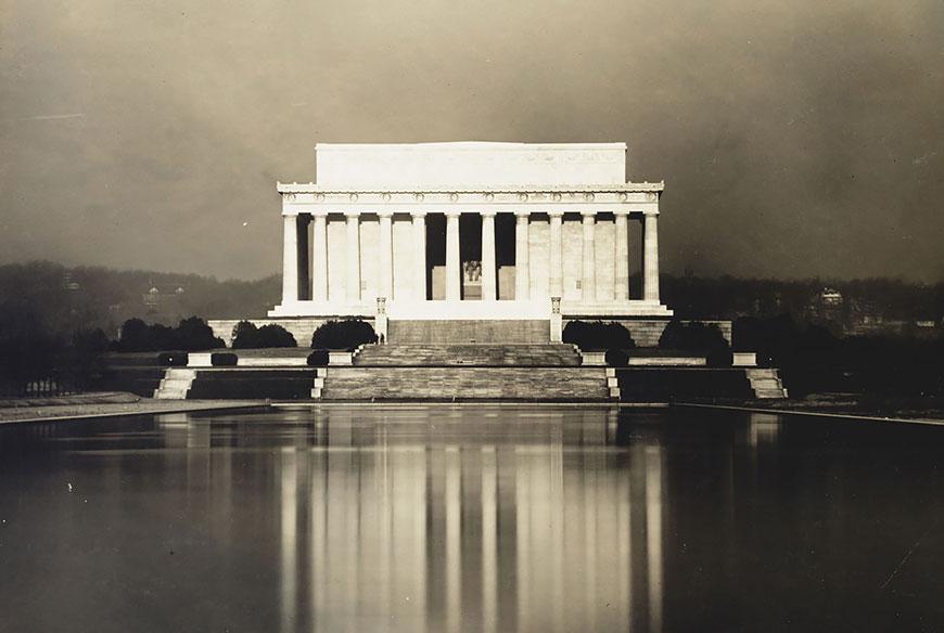 Исторические фотографии Мемориала Линкольна