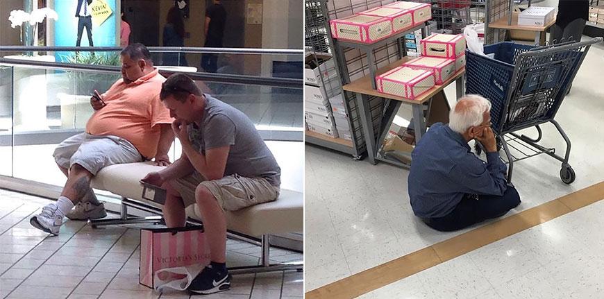 Несчастные мужчины на шоппинге покоряют Интернет