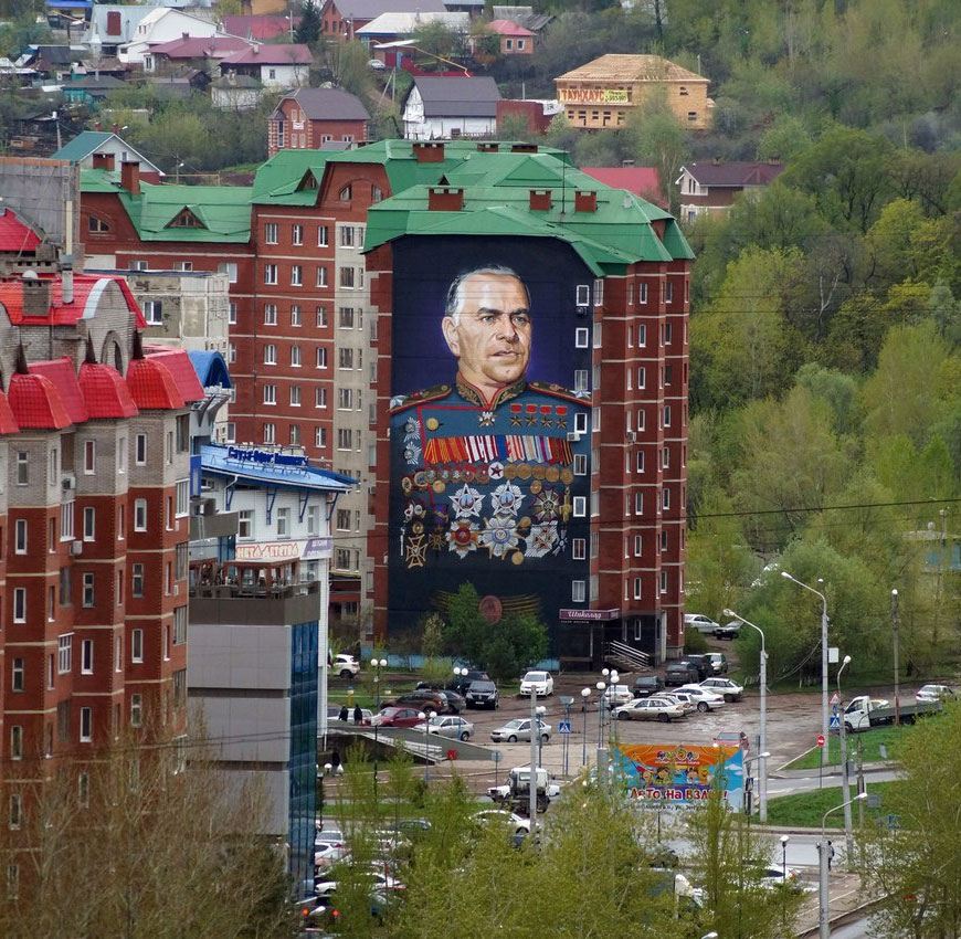 Самый большой портрет маршала Жукова