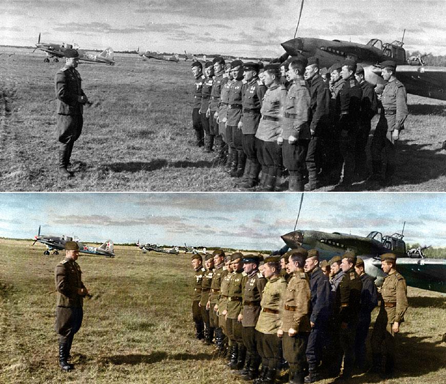 Цветные фото советских героев Великой Отечественной войны
