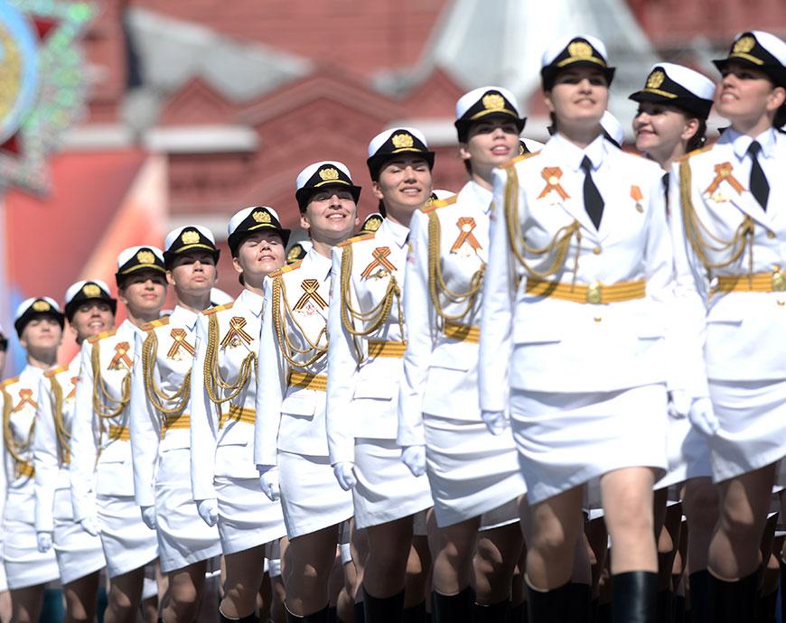 Парад 9 Мая: cводный расчет женщин-военнослужащих